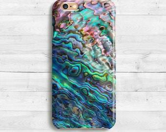Abalone Shell Case, iPhone SE, iPhone 6s, 6s plus iPhone 7 case, iPad Mini iPhone 5c, Samaung Galaxy S6, S7 Shine nacre of Paua Pearl Case