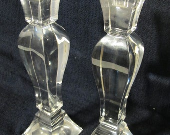 2pcs Crystal Candle Stand