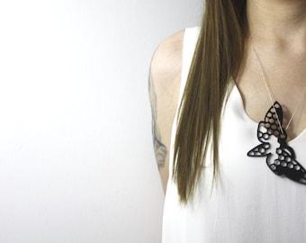 Laser Cut Moth Necklace