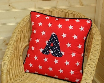 Red Star Letter Cushion ~ Initial