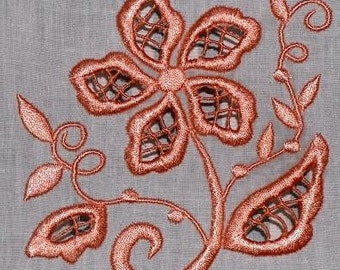 Floral Cutwork ( 10 Machine Embroidery Designs from ATW )