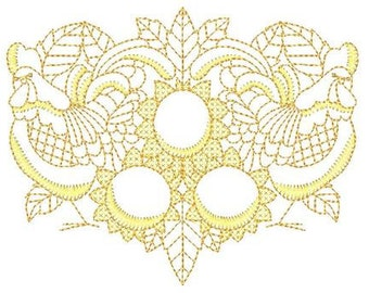 Gold Roosters and Sunflowers   ( 10 Machine Embroidery Designs from ATW )