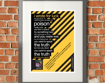 Hacienda Style 'Wrote For Luck' Lyric picture