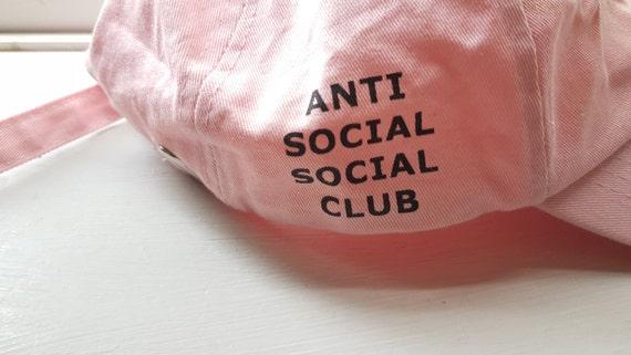 Anti Social Social Club Baby Pink Baseball Cap