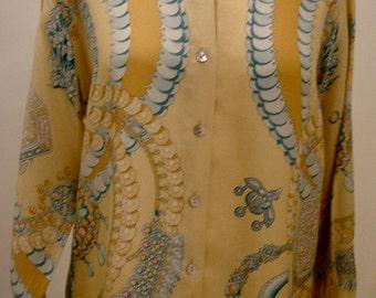 Silk blouse from HERMÈS Paris GR 38