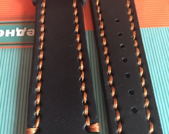 Watchband hand made leather