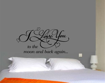 I love you to the moon & back ,wall decal
