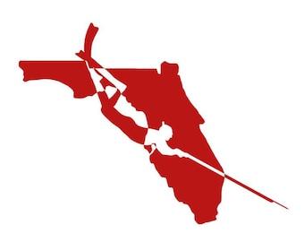 Spearfishing Decal, Speargun Sticker, Florida Decal