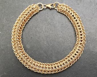 14kt Gold Fill Chainmail Dragonspine Bracelet