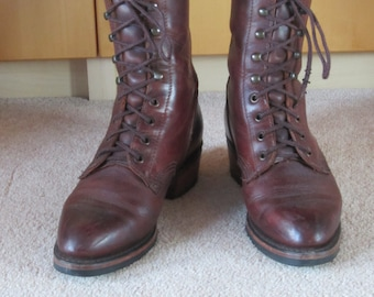 Beautiful brown leather Durango boots Size US 7.5 UK 4.5