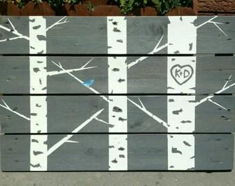 Customized Aspen wall art - Pallet wall art