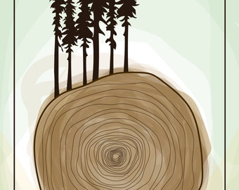 Tree Rings Mini Poster