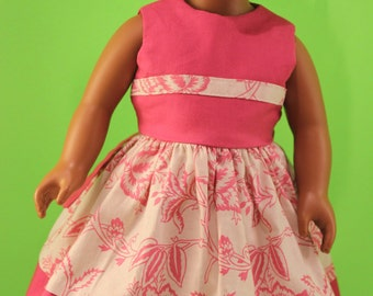 18 Inch Doll Clothes Pink Party Dress