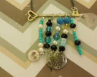 Key and Charm necklace
