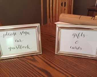Custom made wedding signs