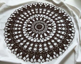 23 in. Handmade Crocheted Table Topper