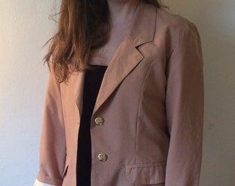 Lovely vintage dusty rose blazer jacket