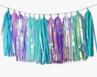 Mermaid Party | Tassle garland | Mermaid birthday | under the sea party | little mermaid party | mermaid decorations  |