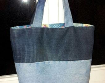 Handmade recycled jeans handbags