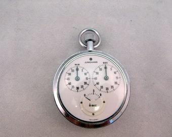 1975-1976 Junghans Mechanical Stopwatch, German Made, 7 Jewels, Serviced