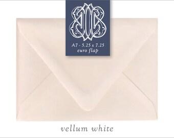 Vellum White | 10 Blank A7 Euro Envelopes
