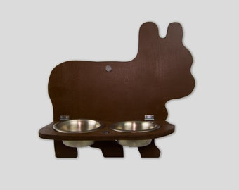 French Bull Dog Profile Feeder