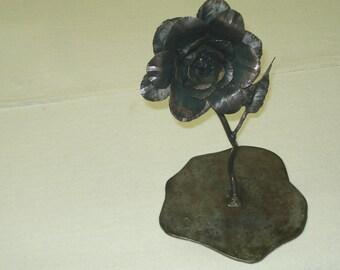 Hand Forged Rose Flower   Blacksmith Made