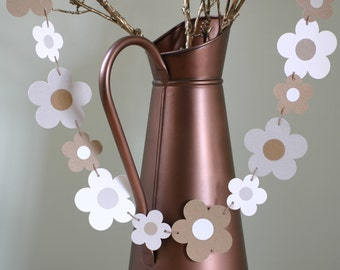Wedding Garland, Wedding Bunting, Flower Garland, Wedding Decor, Engagement Party Decoration, Room Decor, Recycled Paper