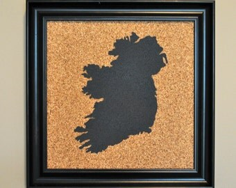 Push Pin Cork Map of Ireland (Customize with YOUR colors!)