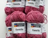 Pink yarn, cotton yarn, knitting yarn, crochet yarn, Schachenmayr SMC Favorito, cheap yarn, yarn lot, medium yarn, worsted yarn, afghan yarn