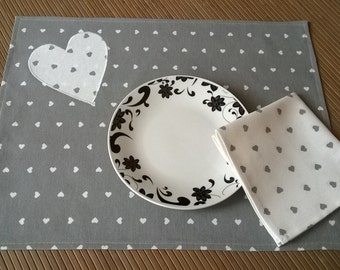 placemat with napkin