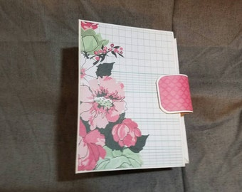 Small Pink Floral Mini Album
