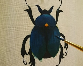 Scarab Beetle in Acrylic