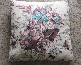Vintage Barkcloth Pillow Covers 19 x 19 Two Available