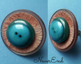 Adjustable ring vintage buttons