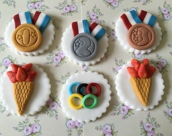 Olympic #7 Cupcake & Cake Toppers