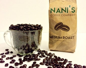 Nani's Coffee Company, Micro Roasted Coffee, Medium Roast, Freshly Roasted