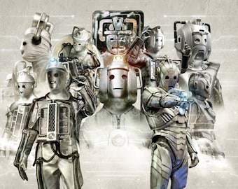 "DOCTOR WHO A4 poster print - ""Silver Generations"" The Cybermen"