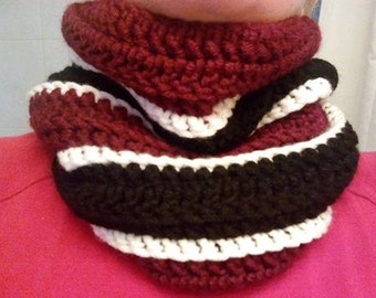 Crochet neck scarfs.two or three colors,any type of color,crochet neck scarf,warmer,neck gaiter.mens,womens,kids