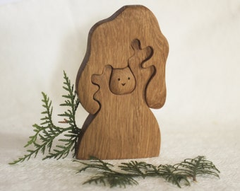 Wooden toy Tree and owl / Waldorf Toy /for Baby / Toddler / friendly/ educational / toys / toddler gift / gift for baby / forest fairy tale