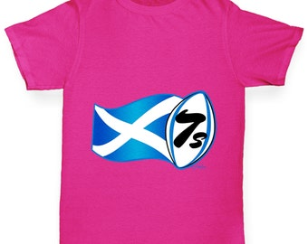 Girl's Rugby 7S Scotland T-Shirt