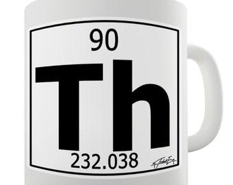 Periodic Table Of Elements Th Thorium Ceramic Mug