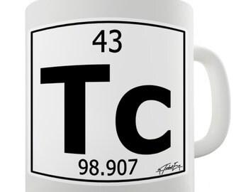 Periodic Table Of Elements Tc Technetium Ceramic Tea Mug