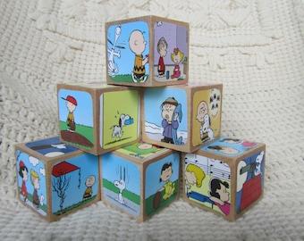 Peanuts/Charlie Brown & Snoopy Wooden Blocks