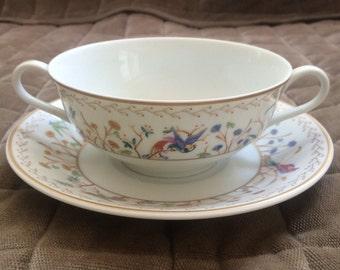 Audubon soup bowl and saucer