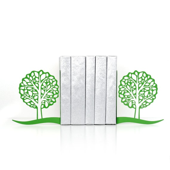 Tree bookends tree of life book ends go green book shelf book for Tree of life bookshelf