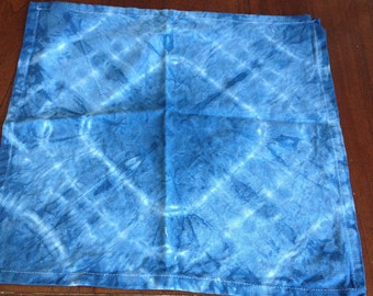Hand Dyed cotton napkins , these were hand dyed by in Portland Australia a remote sea side town.