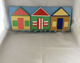 Beach hut wall key holder