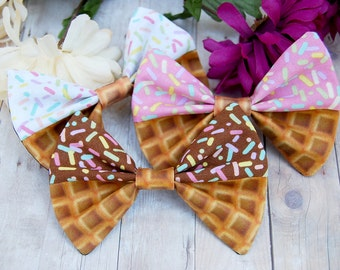 Ice Cream Parlor Bows // Food, Novelty, Gift, Kawaii, Cute, Lolita