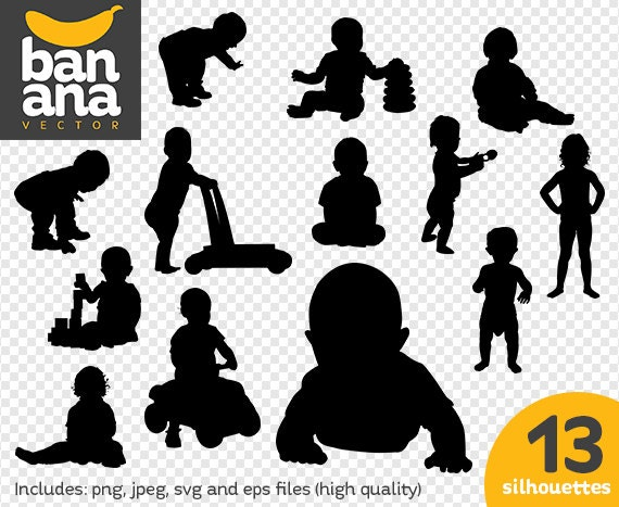 sale toddlers silhouettes png jpg svg eps files high